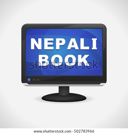 monitor with learn nepali book