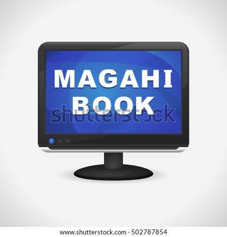 monitor with magahi book on
