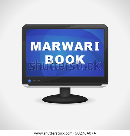 monitor with marwari book on