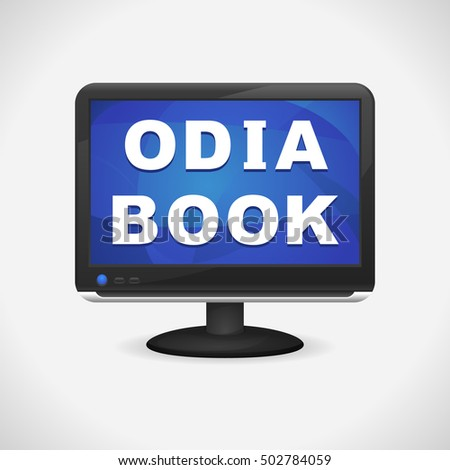 monitor with odia book on