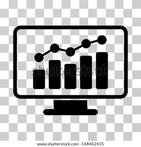 Monitoring icon. Vector illustration style is flat iconic symbol, black color, transparent background. Designed for web and software interfaces.