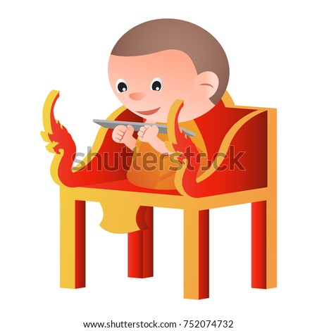 monk sit on a pulpit in the