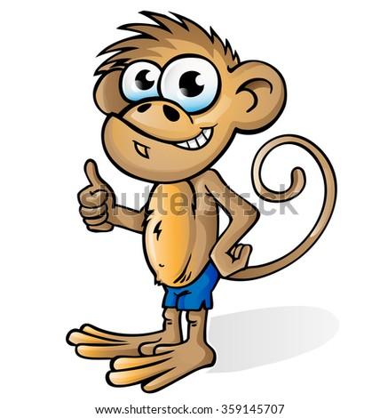 monkey cartoon isolated on