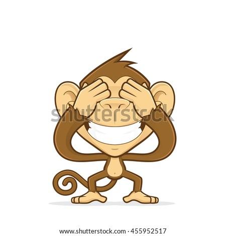 monkey closing his eyes