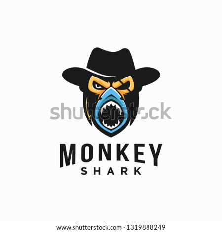 monkey cowboy and shark