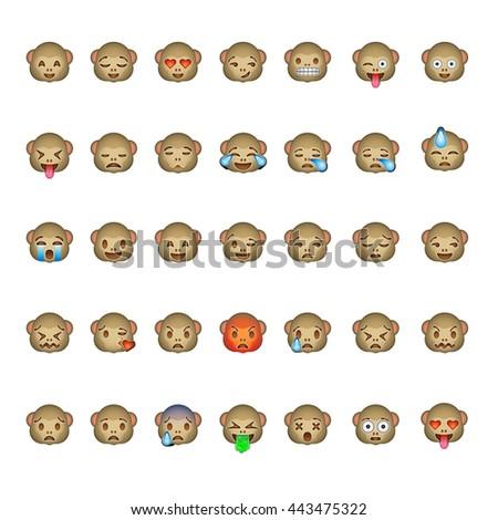 monkey emoticon smiley faces