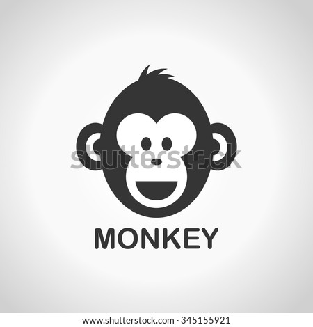 Monkey face, New Year 2016,  logo design