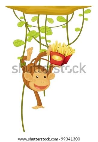 stock-vector-monkey-hanging-eating-fries