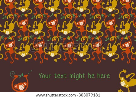 monkey horizontal background
