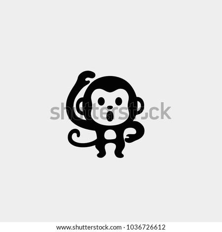 Monkey icon. Vector monkey icon. Vector monkey