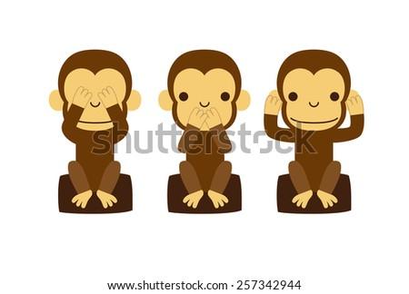 monkey illustration   speak no