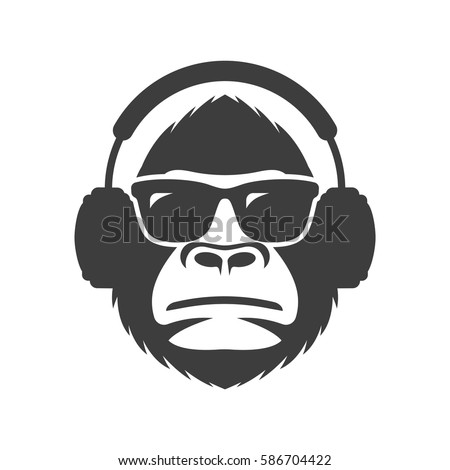 monkey in sunglasses and