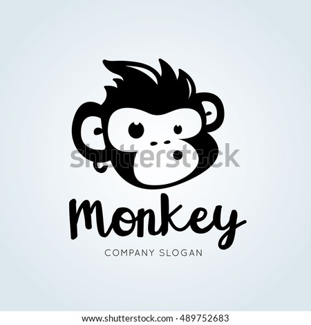 monkey logo template