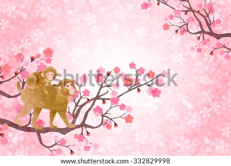 monkey plum cherry greeting
