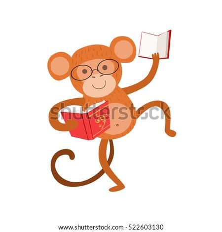 monkey smiling bookworm zoo