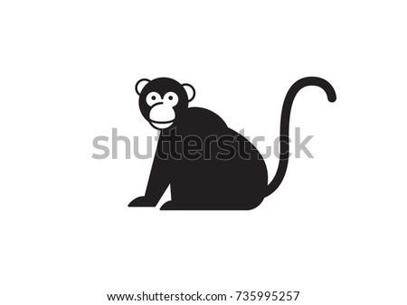 monkey vector icon logo