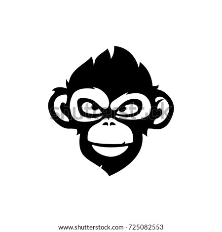 Monkey vector illustration, logo design template with monkey