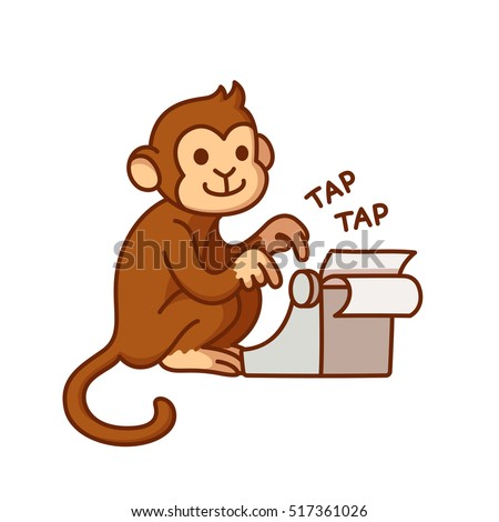 monkey with typewriter