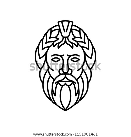 mono line illustration of zeus