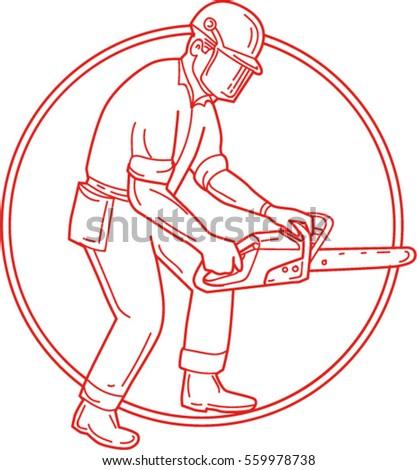 mono line style illustration of