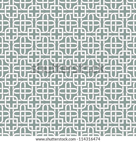 Monochromatic arabic pattern.Seamless vector