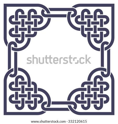 monochromatic celtic knot frame