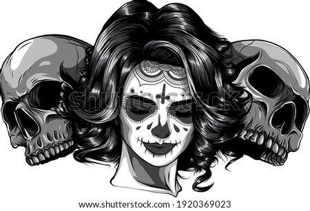 monochromatic dead girl with