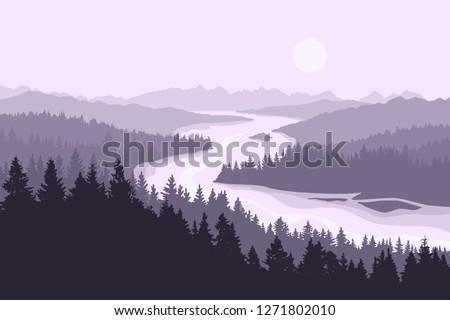 monochromatic vector landscape