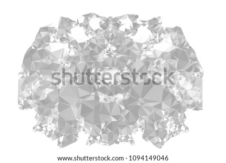 Monochrome abstract triangle background. Grayscale, black and white. Design element for book covers, presentations layouts, title and page templates. Low polygonal. Vector clip art.