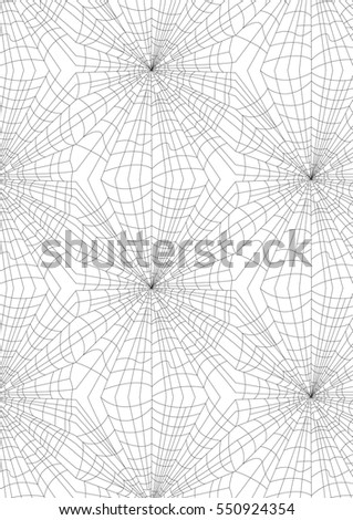 Monochrome background with web spider. vector illustration