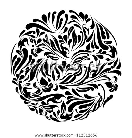 Monochrome black and white lace ornament vector eps 8