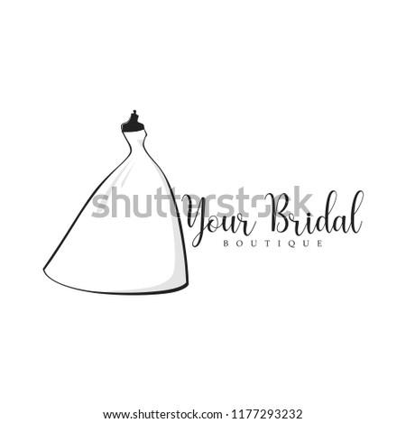 monochrome bridal boutique logo