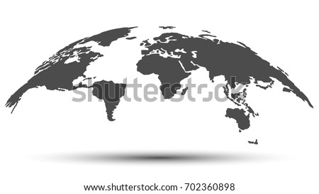 monochrome 3d map of the world