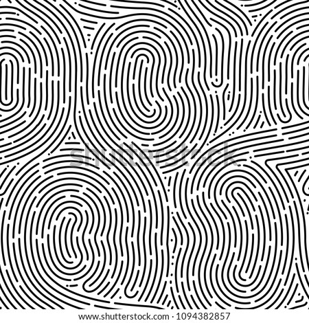 monochrome doodle abstract