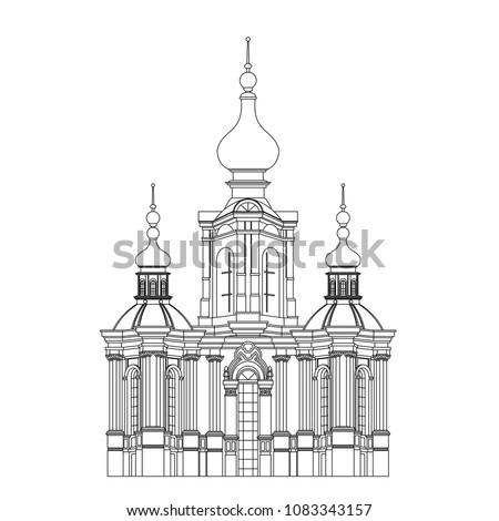 monochrome drawing  architectur