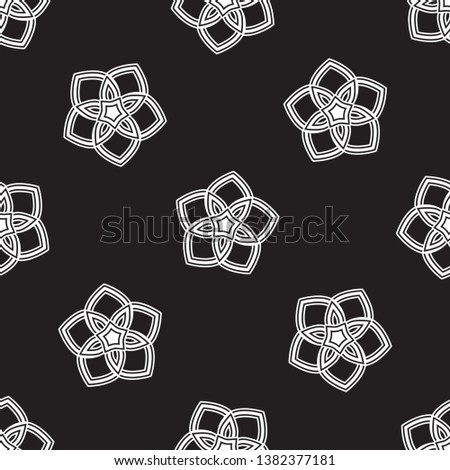 monochrome elegant five petal