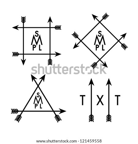 label with arrows Indian Arrow Vector