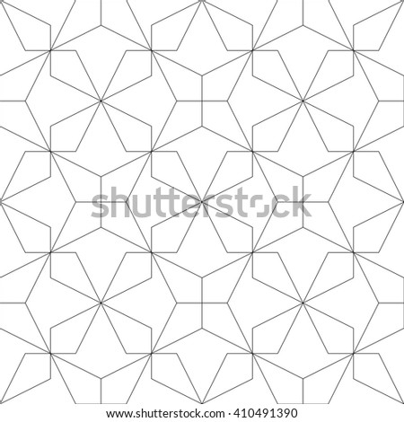 Monochrome geometric seamless pattern. Vector illustration