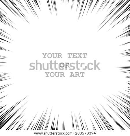 monochrome graphic explosion