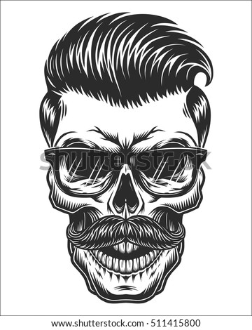 monochrome illustration of