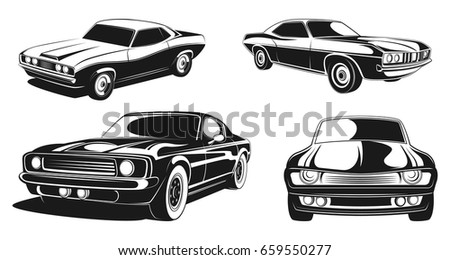 Modern Muscle Car Download Free Vector Art Stock Graphics Images