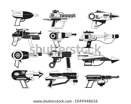 monochrome illustrations of