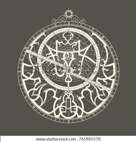 Monochrome image of the astrolabe