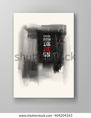 monochrome ink paint vector