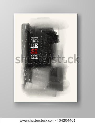 monochrome ink paint vector