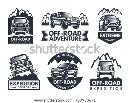 Offroad Suv Car Collection Vector Download Free Vector Art Stock