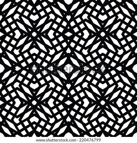 Monochrome messy seamless pattern with parallel lines, black and white infinite geometric mosaic textile, abstract vector textured web visual covering.