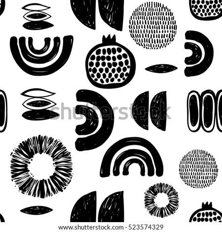monochrome minimalistic tribal