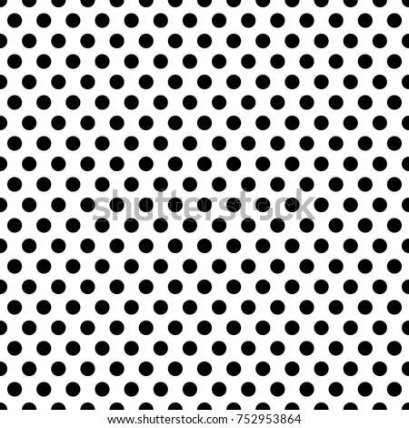 Monochrome perforated grid, seamless black circles pattern