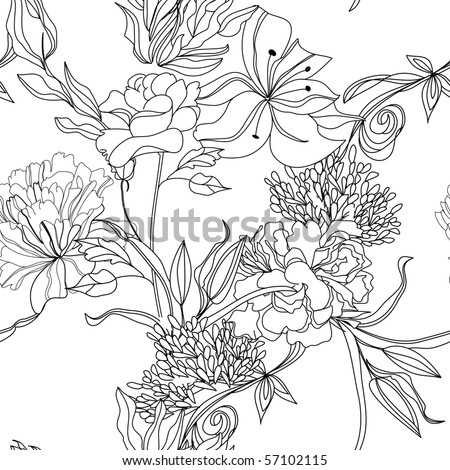 Monochrome seamless pattern